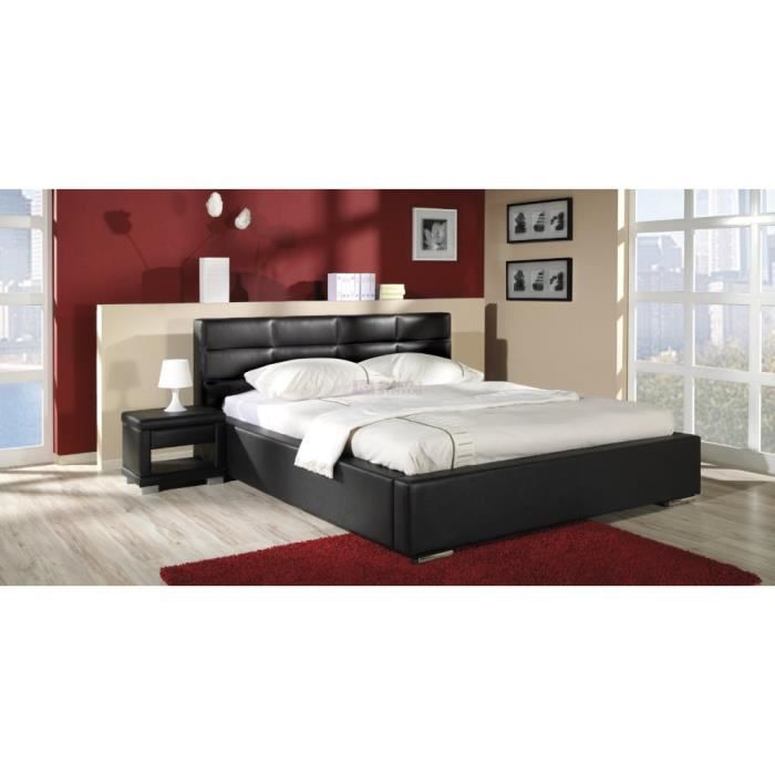 lit cuir veritable nike r achat vente lit complet lit cuir veritable nike r cdiscount. Black Bedroom Furniture Sets. Home Design Ideas