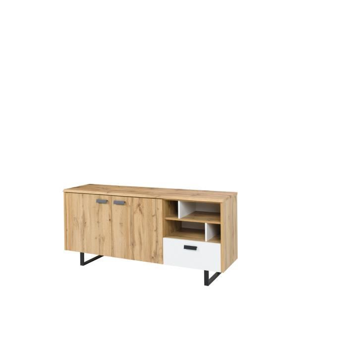 buffet salle a manger industriel achat vente buffet. Black Bedroom Furniture Sets. Home Design Ideas