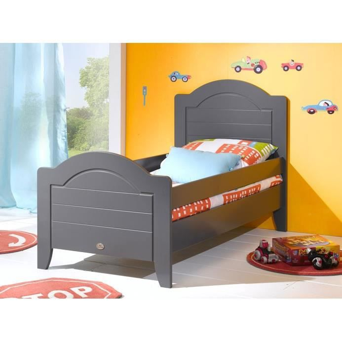 lit enfant 90 x 190 doly gris achat vente lit complet lit enfant 90 x 190 doly gris cdiscount. Black Bedroom Furniture Sets. Home Design Ideas