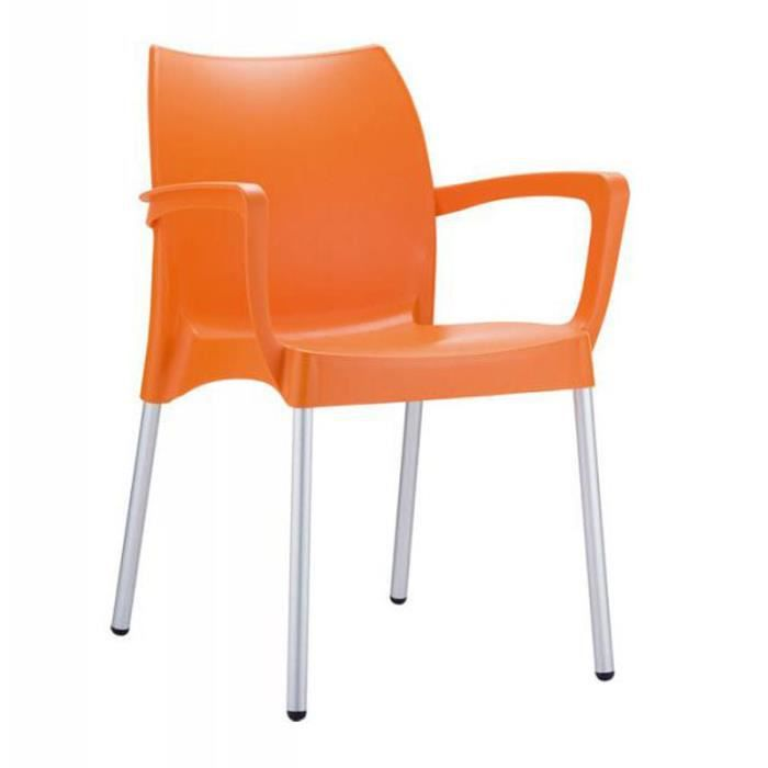 chaise de jardin empilable en plastique orange achat. Black Bedroom Furniture Sets. Home Design Ideas