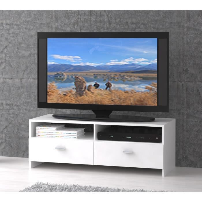 finlandek meuble tv bingo 95 cm blanc achat vente. Black Bedroom Furniture Sets. Home Design Ideas
