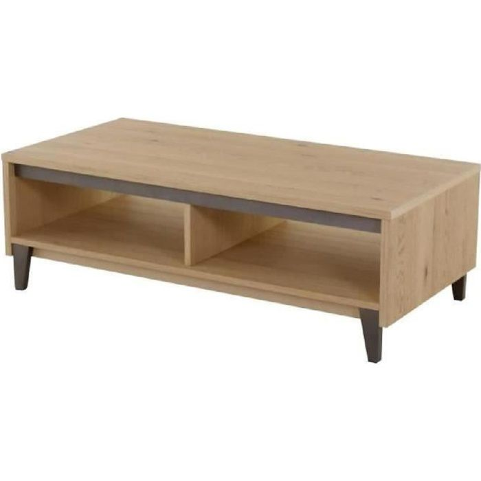 Contemporain X Bricklane Placage Chêne L Basse Blanchi Cm 60 120 Table Wbe2IYHED9