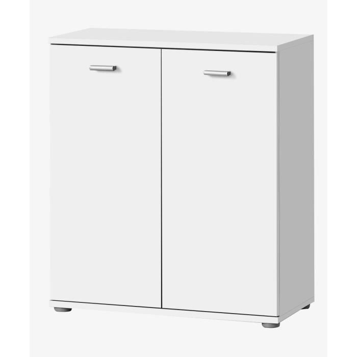 dixi buffet bas contemporain laqu blanc l 61 cm achat. Black Bedroom Furniture Sets. Home Design Ideas