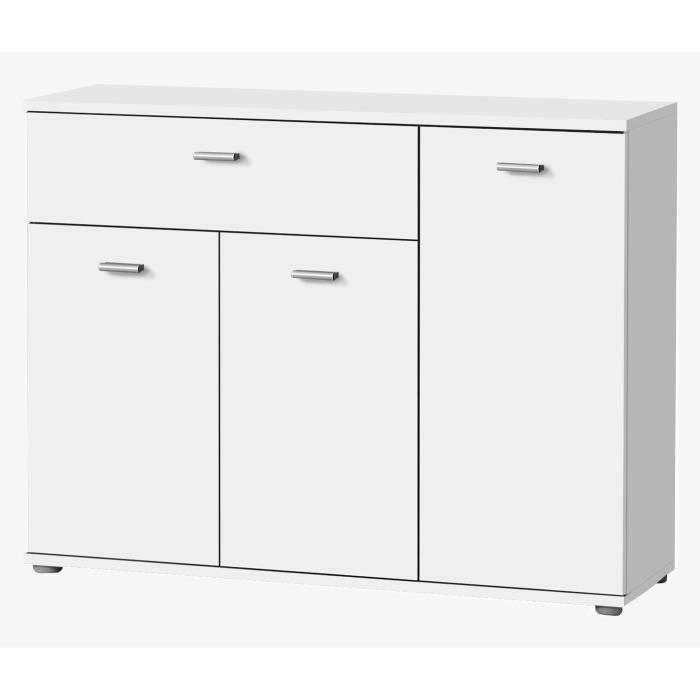 BUFFET - BAHUT  DIXI Buffet bas contemporain blanc - L 90 cm