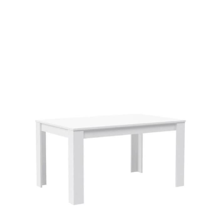finlandek table manger kova de 4 6 personnes style contemporain blanc mat l 140 x l 90 cm. Black Bedroom Furniture Sets. Home Design Ideas