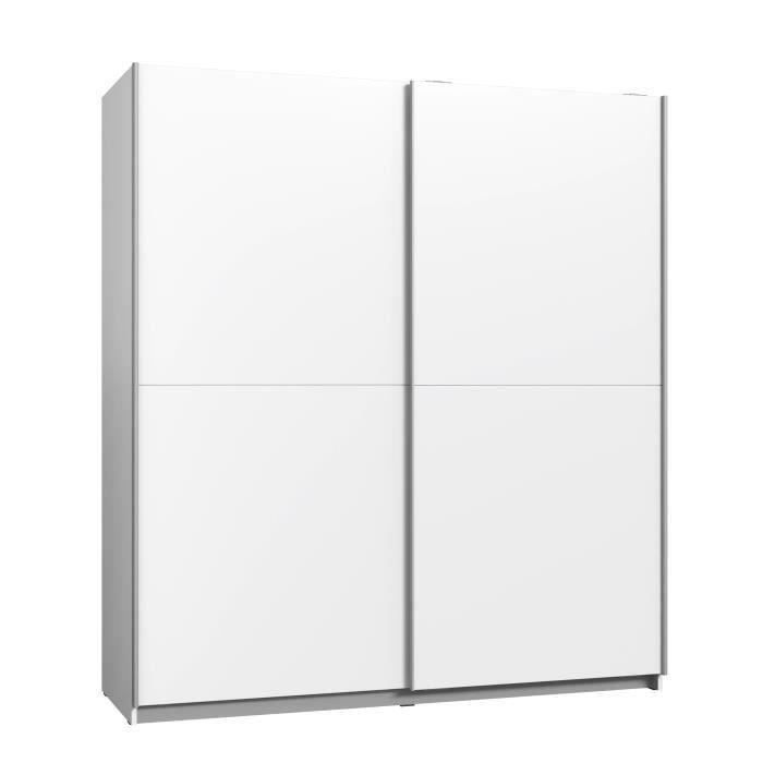 Finlandek armoire contemporain blanc l 170 cm achat for Meuble chambre adulte contemporain