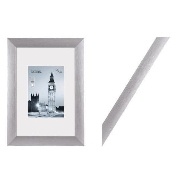 cadre photo london 20 x 30 cm couleur argent achat vente cadre photo aluminium cdiscount. Black Bedroom Furniture Sets. Home Design Ideas