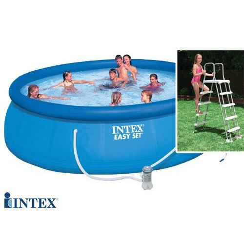 Piscine autostable intex 4 57 x 1 22 m achat vente for Piscine autostable
