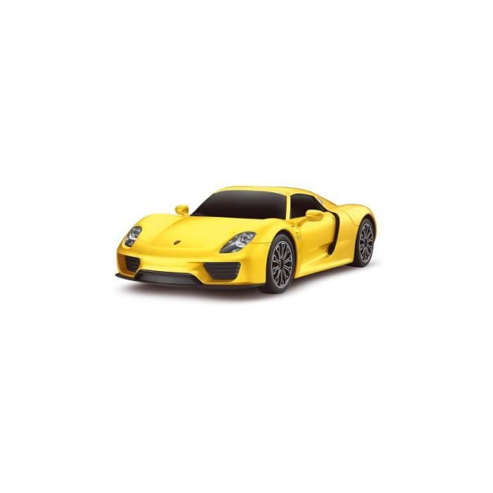 voiture rc porsche 918 spyder jaune 1 24 achat vente voiture construire. Black Bedroom Furniture Sets. Home Design Ideas