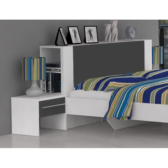 finlandek t te de lit rangement pehme 146 x 85 cm blanc. Black Bedroom Furniture Sets. Home Design Ideas