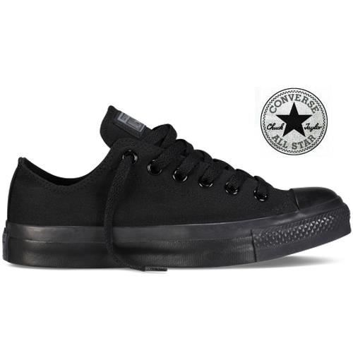 all star converse cuir noir