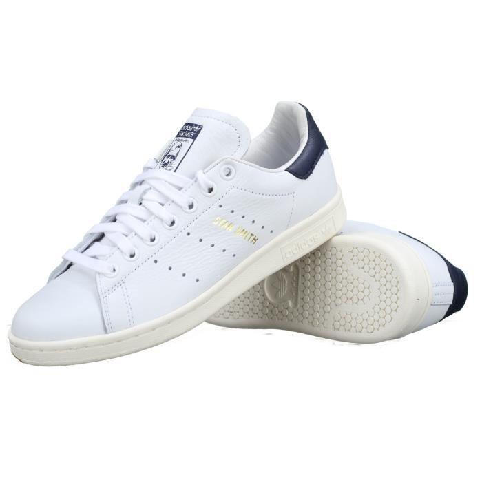 Basket Adidas Stan Smith Cq2870 Blanc / Marine Blanc - Achat ...