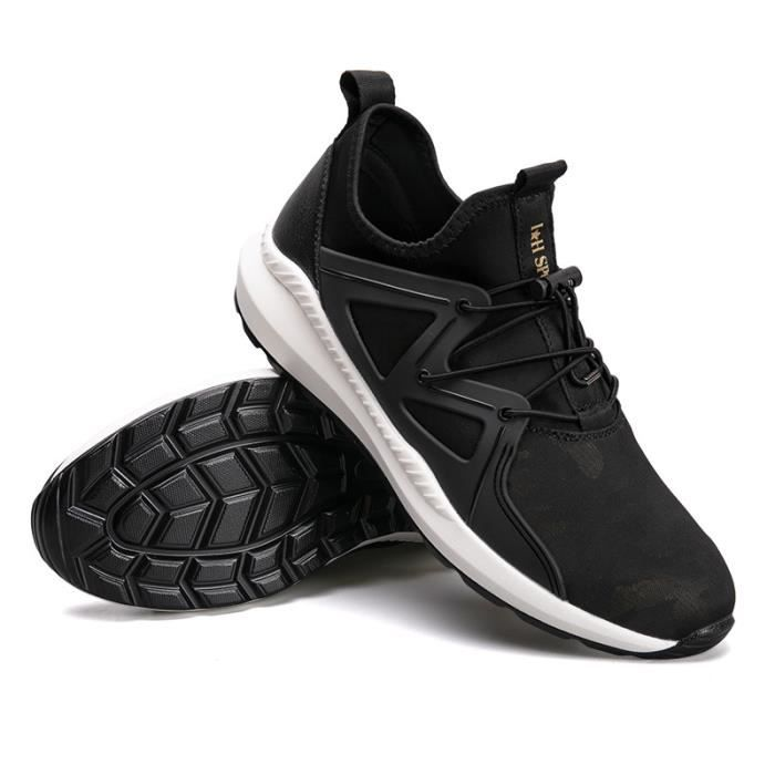 JOZSI Baskets Homme Chaussure hiver Jogging Sport Ultra Léger Respirant Chaussures DTG-XZ228Noir43 I0MbwkIgRb