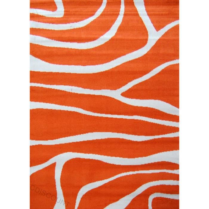 Paradise tapis de salon orange beige 120x160 cm achat for Tapis de cuisine orange