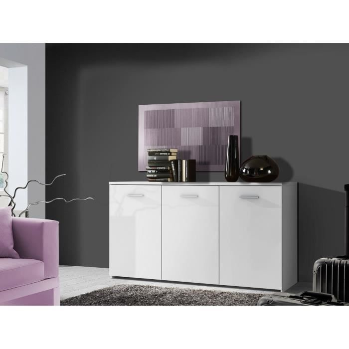 passat enfilade blanc mat 150cm achat vente buffet bahut passat enfilade blanc mat 150c. Black Bedroom Furniture Sets. Home Design Ideas