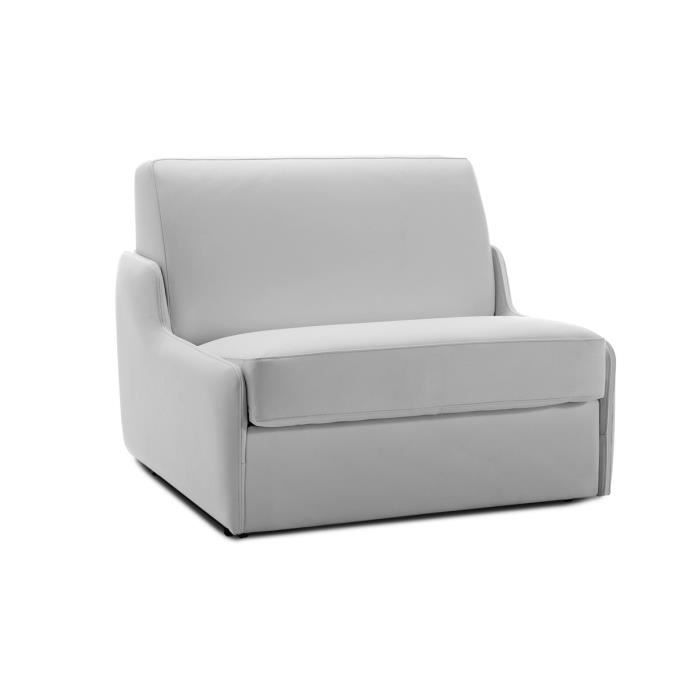 fauteuil convertible en cuir blanc 1 place bolivia achat vente fauteuil blanc cdiscount. Black Bedroom Furniture Sets. Home Design Ideas