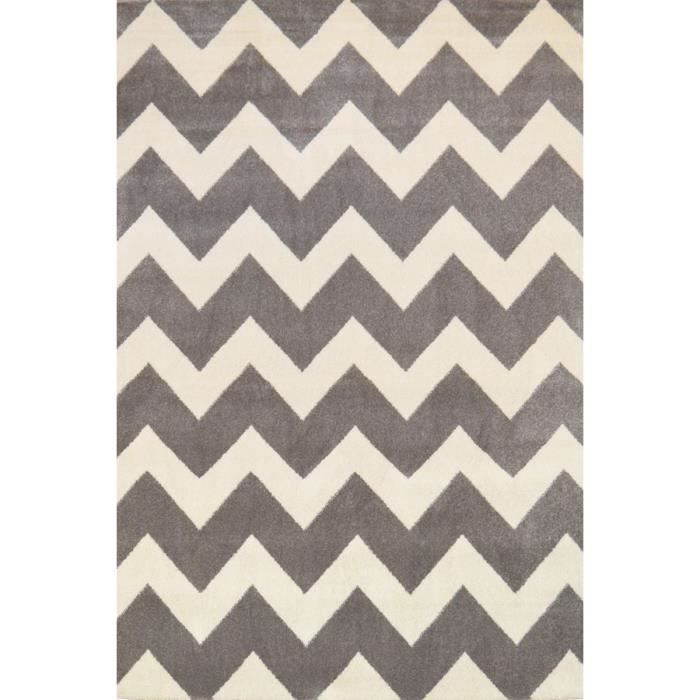 chevrons tapis de salon 120x170 cm gris et blanc achat. Black Bedroom Furniture Sets. Home Design Ideas
