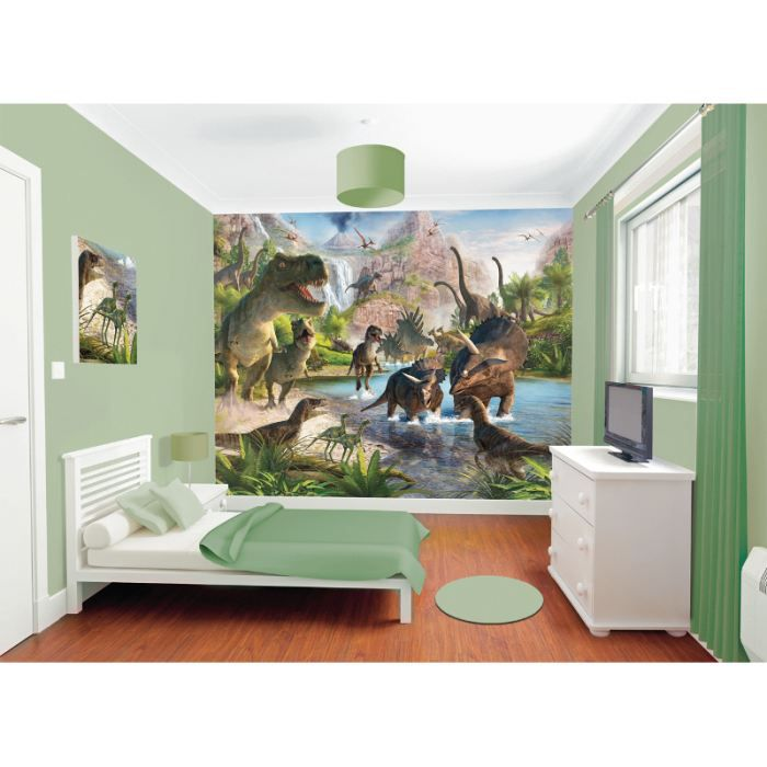 papier peint dinosaure achat vente papier peint. Black Bedroom Furniture Sets. Home Design Ideas
