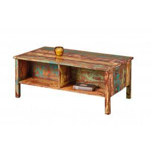 TABLE BASSE Table basse en bois recyclé fait main Ellora - l 1