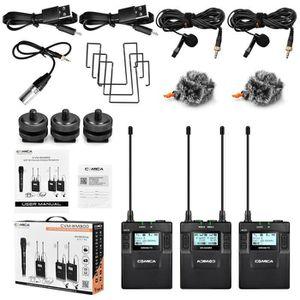 MICROPHONE COMICA CVM-WM300A 1R2T UHF Kit Microphones sans fi
