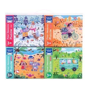 JEU D'APPRENTISSAGE Puzzles animaux en bois pour les tout-petits 1 2 3