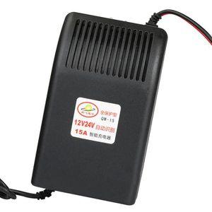 Semoic Nouvelle Voiture Intelligente 12V 10A Chargeur de Batterie au Plomb Voiture Moto UE
