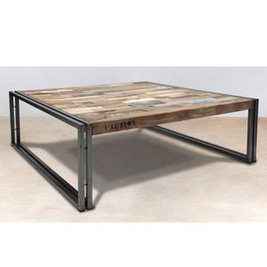 table basse industriel achat vente table basse industriel pas cher soldes cdiscount. Black Bedroom Furniture Sets. Home Design Ideas