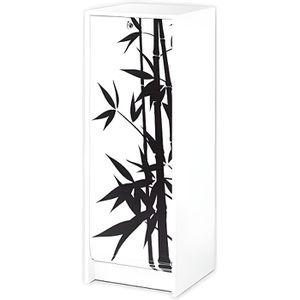 MEUBLE CLASSEMENT Classeur à rideau contemporain L 37,8 cm - Blanc i