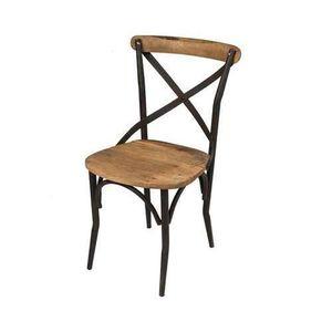 CHAISE Chaise de bar bois & fer Bois Clair