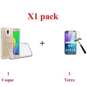 ACCESSOIRES SMARTPHONE X1 Pack, Verre+coque samsung j5 2017 Sans bulles