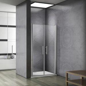 PORTE DE DOUCHE 80x195cm Paroi de douche battante, porte de douche