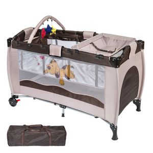 lit bb luxs lit de bb portable multifonctionne brown li - Lit De Bebe