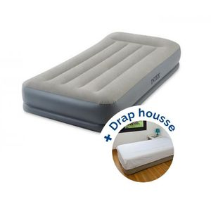 LIT GONFLABLE - AIRBED Pack Lit gonflable électrique Intex Pillow Rest Mi