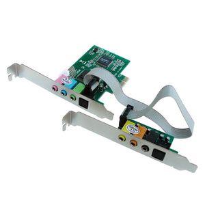 CARTE CONTROLEUR Carte SON sur port PCI-E / 8 Canaux (7.1) - Chipse