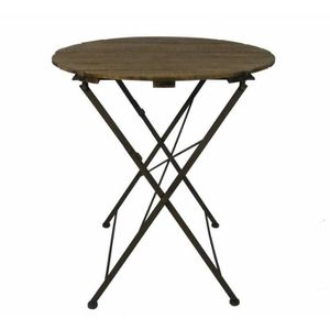TABLE D'APPOINT Table Ronde Desserte Pliable Console d'Appoint Int