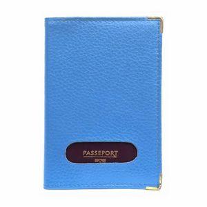 Coffret Rose OSPREY Bleu Marine Cuir Passport Cover