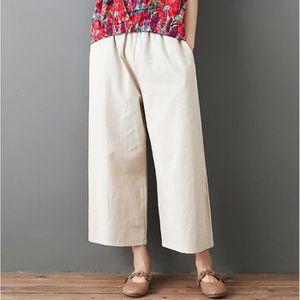 PANTALON Femmes Casual bande élastique solide Pantalons lon