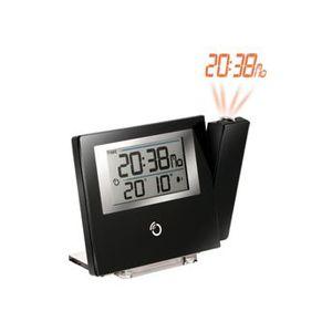 RÉVEIL SANS RADIO Réveil Projecteur Extra Plat (Noir)RM368P-BK - …