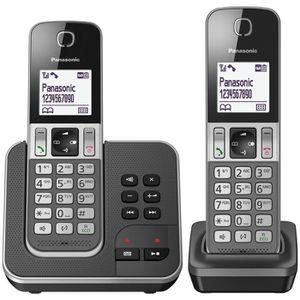 Téléphone fixe Panasonic KX-TGD322FRG Duo Téléphone sans fil Répo