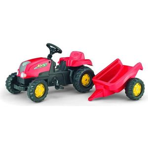 TRACTEUR - CHANTIER ROLLY TOYS  Rolly Kid + Rolly Kid Trailer