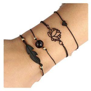 6,5 mm Bracelets de cheville magn/étiques or 5 en 1 pour femmes bijoux 23,5 cm
