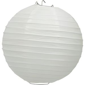 LANTERNE FANTAISIE Boule papier 20cm Blanc- taille : 20 cm- couleu…