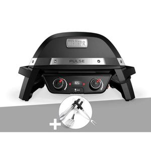 BARBECUE Barbecue électrique Weber Pulse 2000 + Kit Ustensi