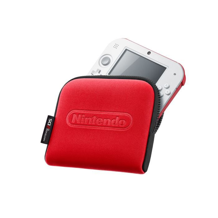 Pochette de transport nintendo 2ds rouge achat vente for Housse nintendo 2ds xl