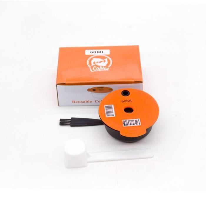Capsules de café rechargeables, 60ml-180ml, pour Machine à café Tassimo, dosette réutilisable, crème écologique [B5E3FD2]