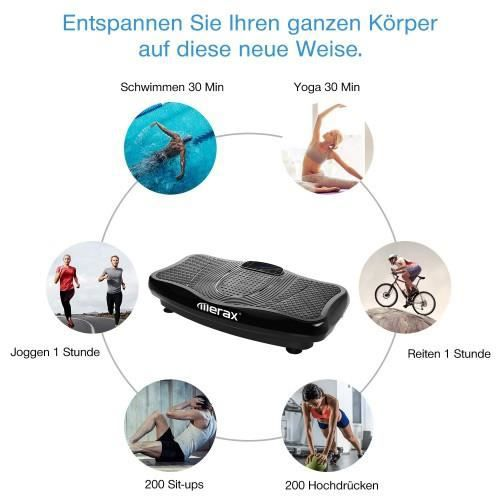 Merax machine de plaque de vibration plate-forme de fitness de vibration appareils de fitness (noir) HB044 -SUR