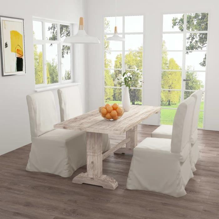 ZHIHU Table de salle à manger 160x80x75 cm Bois de teck massif