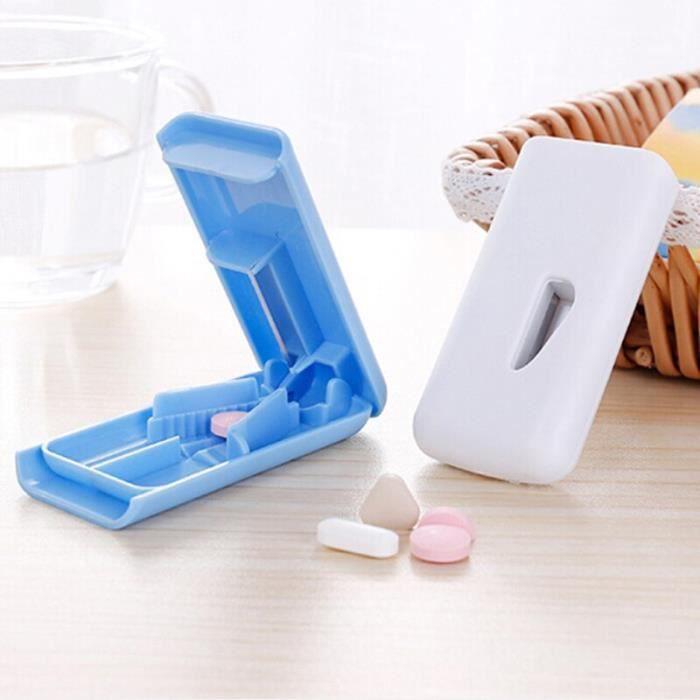 Boîte À Pilules hebdomadaire Coupe Comprimés Médicaments Pilule Cutter Médecine Broyeur Splitter Tablette Cutter [B9F2296]