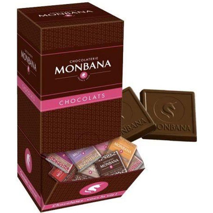 Carrés de chocolat au Lait Monbana (X200) U
