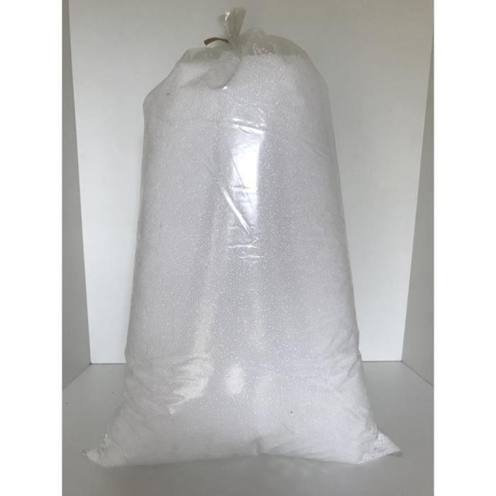 Sac de Billes de polystyrène - Pour rembourrage pouf, poire et coussins - Sac 30 L - Billes 2 à 3 mm